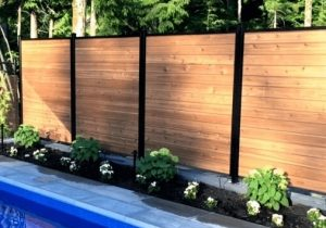 Aluminum and Wood Pool Fence - Ideal Fence of Ottawa